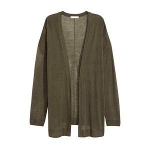NWT H&M OLIVE GREEN Cardigan